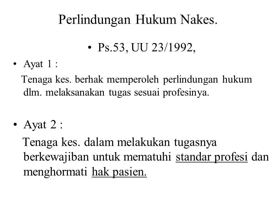 Perlindungan Hukum Nakes.