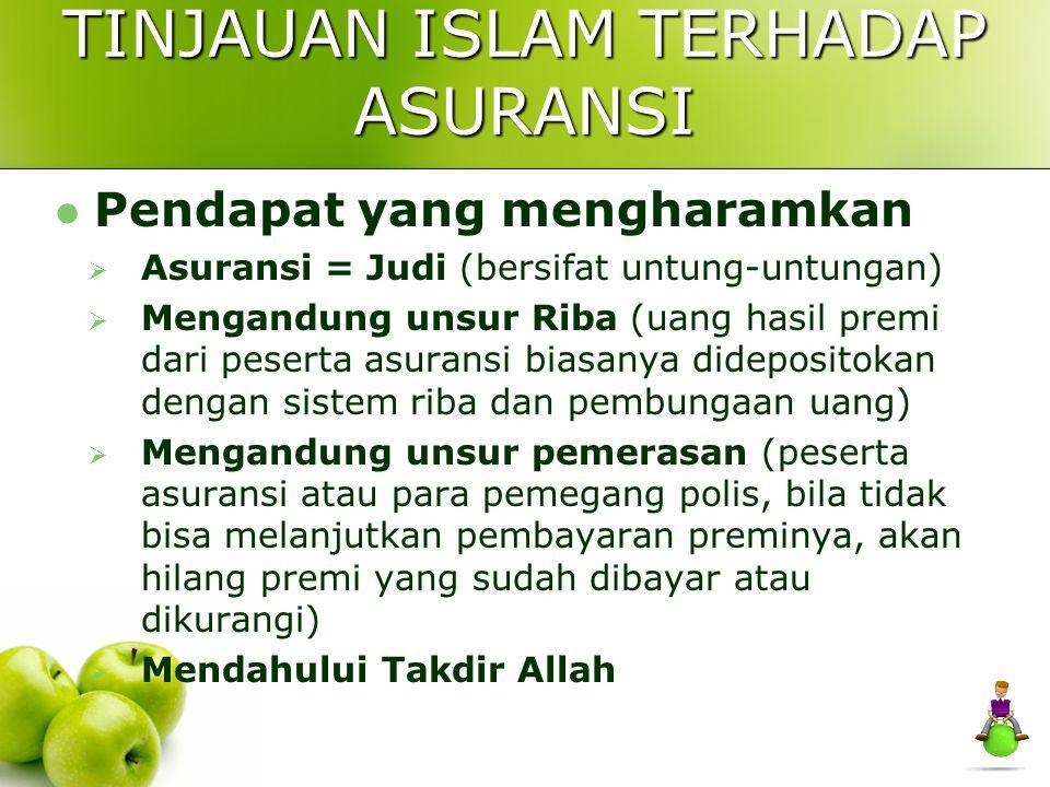 TINJAUAN ISLAM TERHADAP ASURANSI