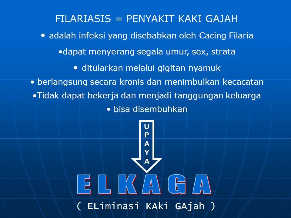 E L K A G A FILARIASIS = PENYAKIT KAKI GAJAH