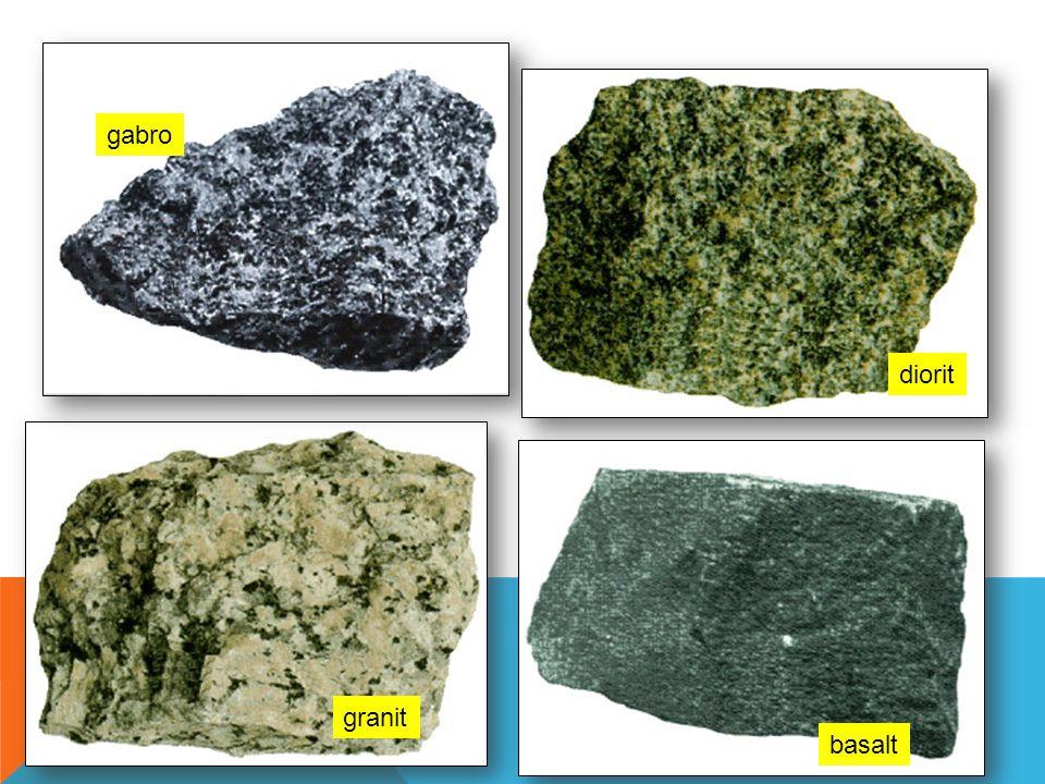 gabro diorit granit basalt