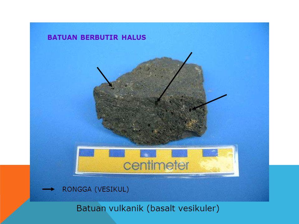 Batuan vulkanik (basalt vesikuler)