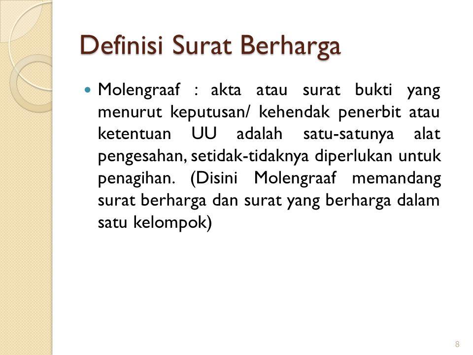 Definisi Surat Berharga
