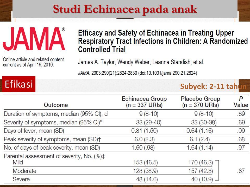 Studi Echinacea pada anak