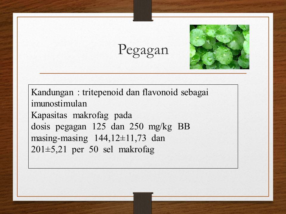 Pegagan Kandungan : tritepenoid dan flavonoid sebagai imunostimulan
