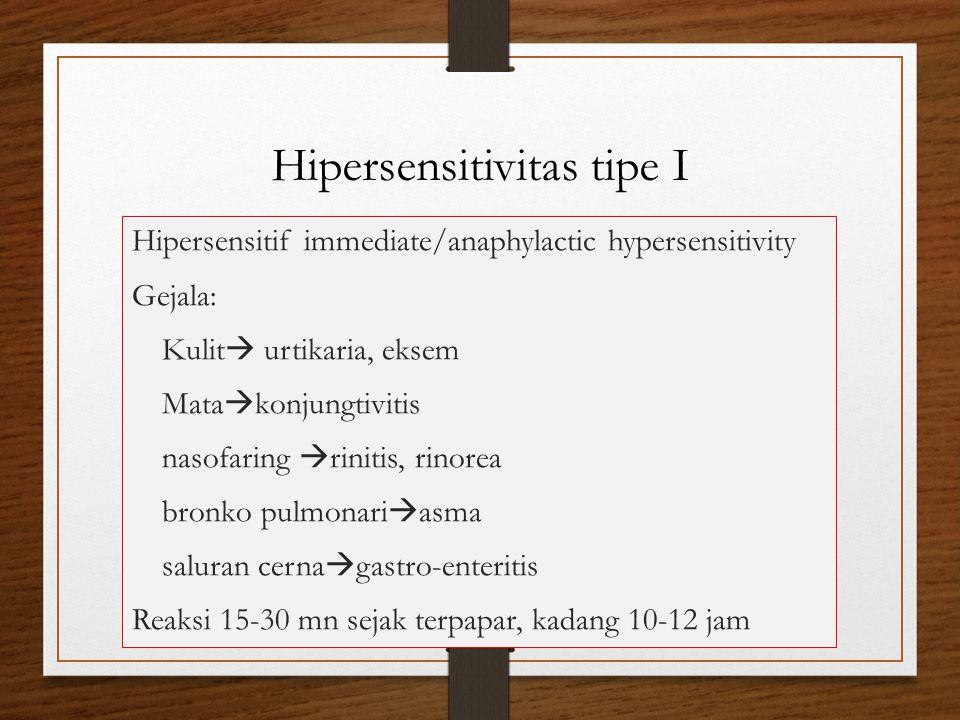 Hipersensitivitas tipe I