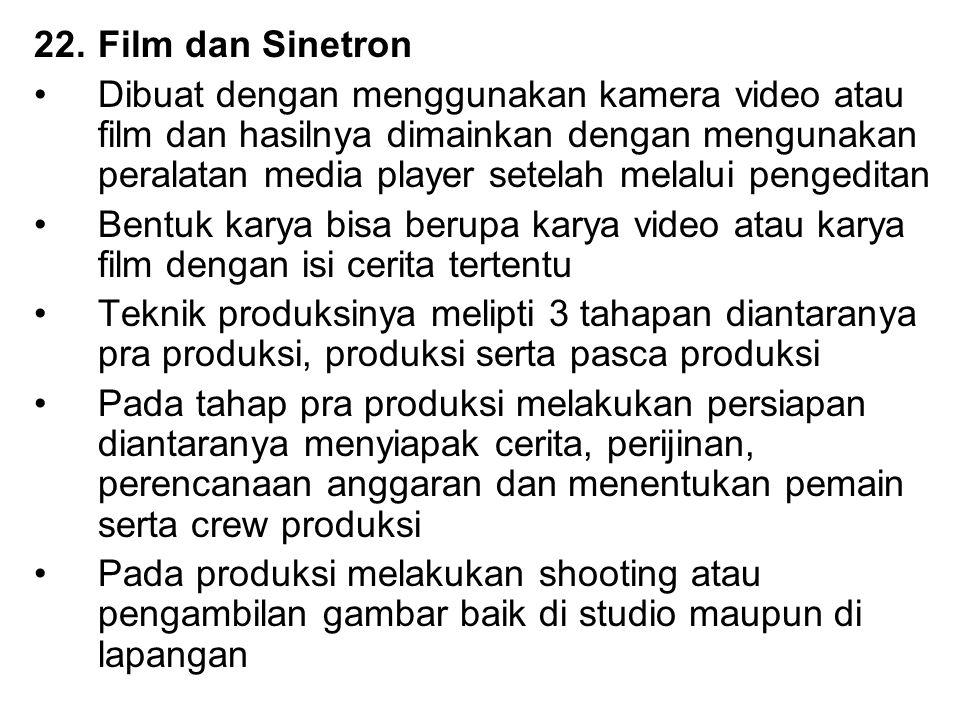 Film dan Sinetron
