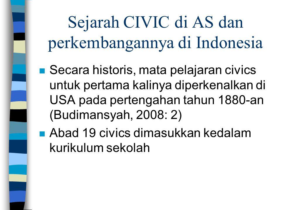 Sejarah CIVIC di AS dan perkembangannya di Indonesia