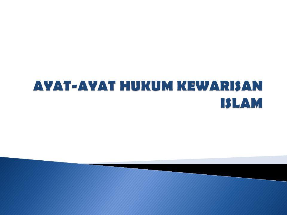 AYAT-AYAT HUKUM KEWARISAN ISLAM
