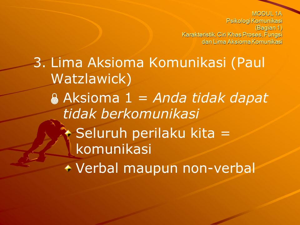 Lima Aksioma Komunikasi (Paul Watzlawick)