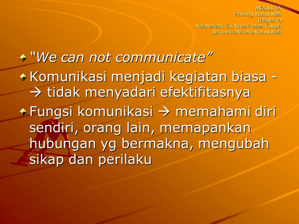 We can not communicate