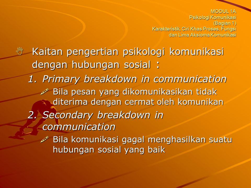 Kaitan pengertian psikologi komunikasi dengan hubungan sosial :