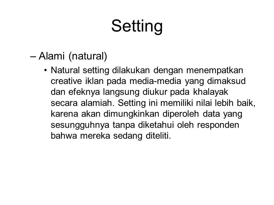 Setting Alami (natural)
