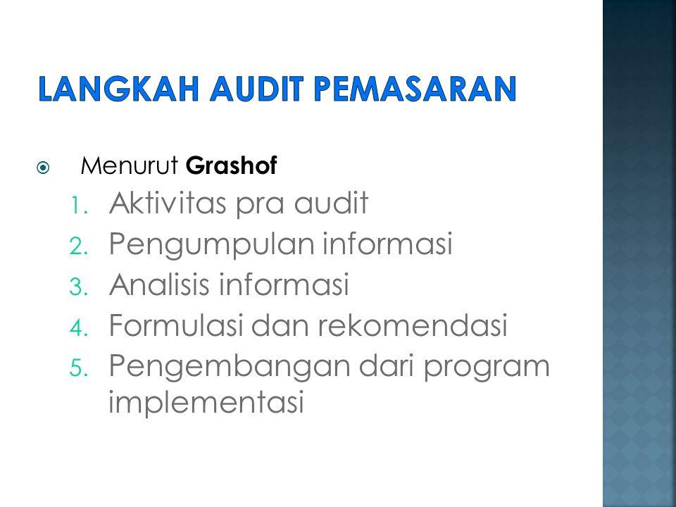 Langkah Audit Pemasaran