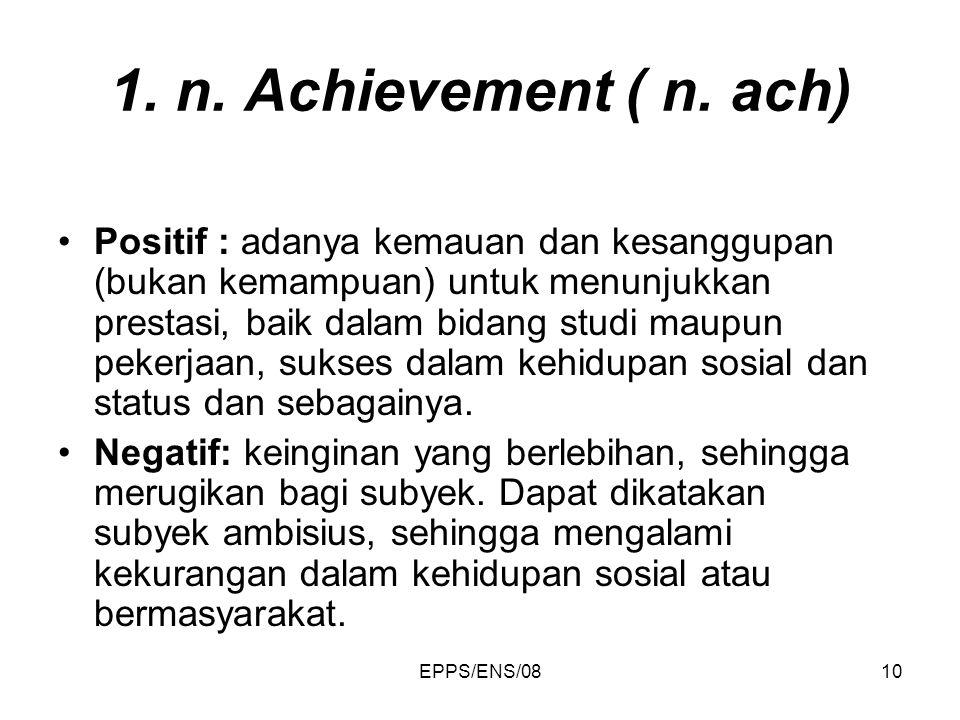 1. n. Achievement ( n. ach)