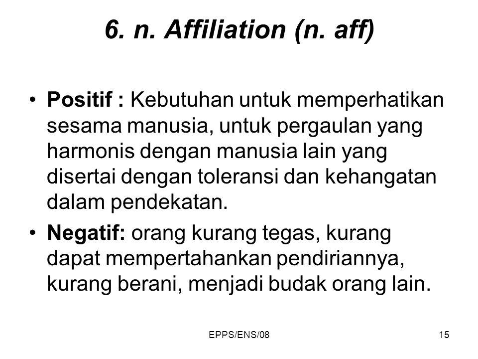 6. n. Affiliation (n. aff)