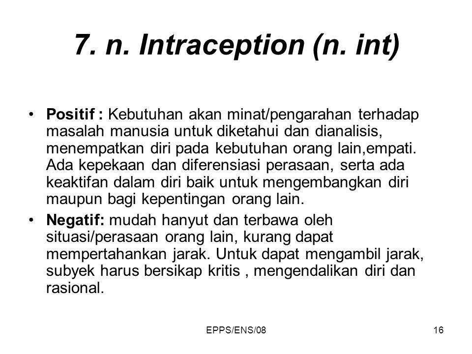 7. n. Intraception (n. int)