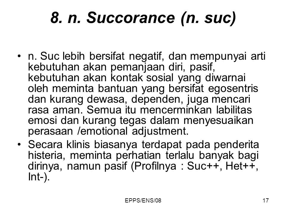 8. n. Succorance (n. suc)