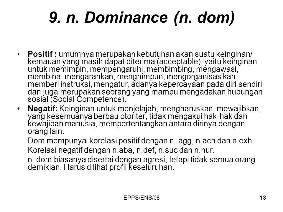 9. n. Dominance (n. dom)