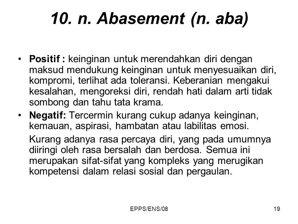 10. n. Abasement (n. aba)