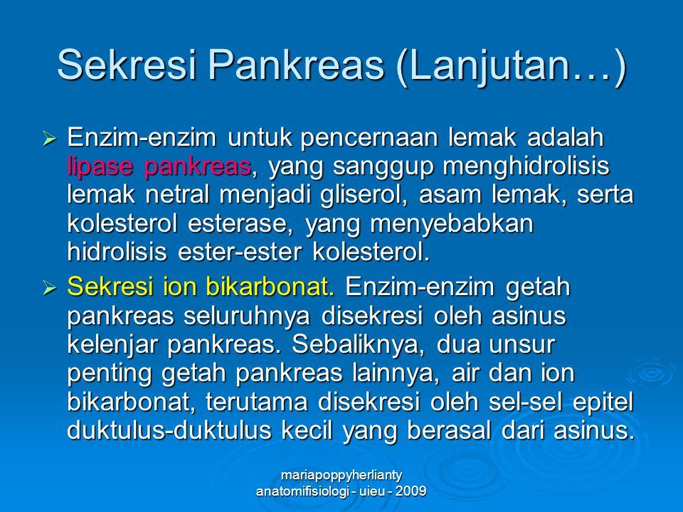 Sekresi Pankreas (Lanjutan…)