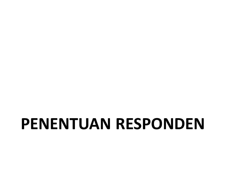Penentuan responden