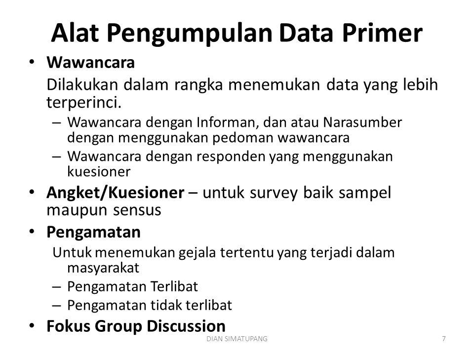 Alat Pengumpulan Data Primer