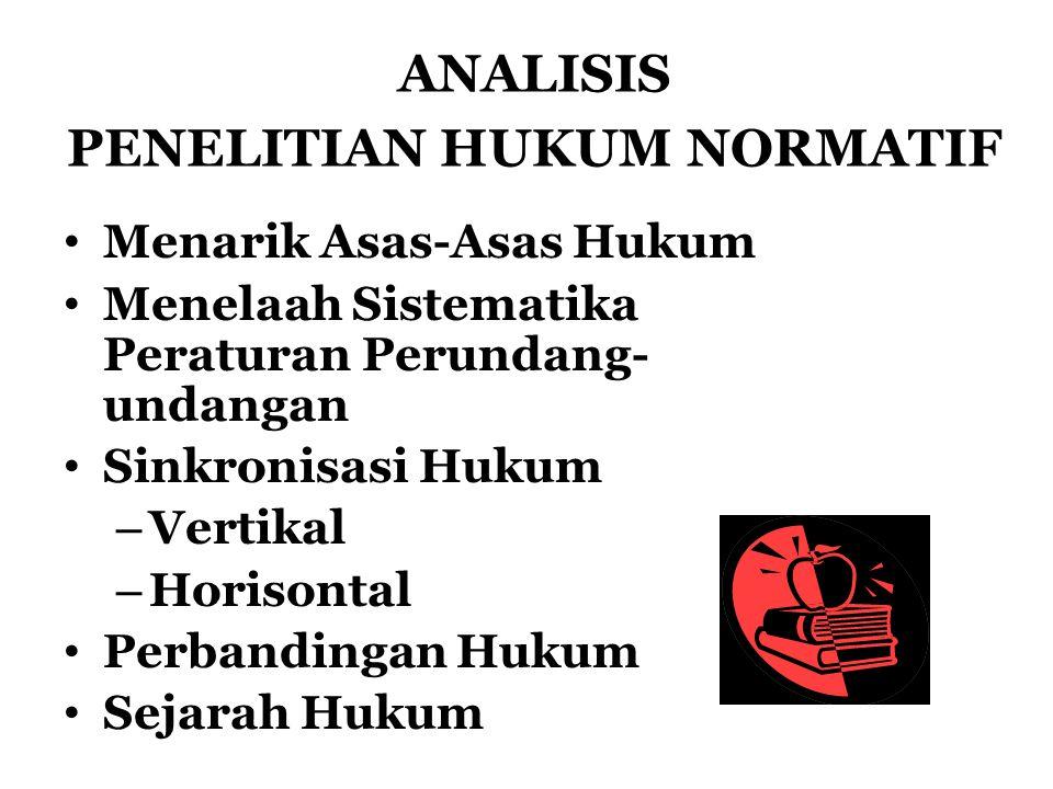ANALISIS PENELITIAN HUKUM NORMATIF