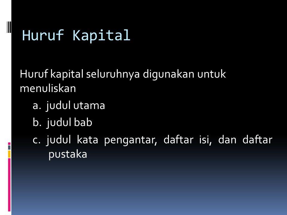Huruf Kapital