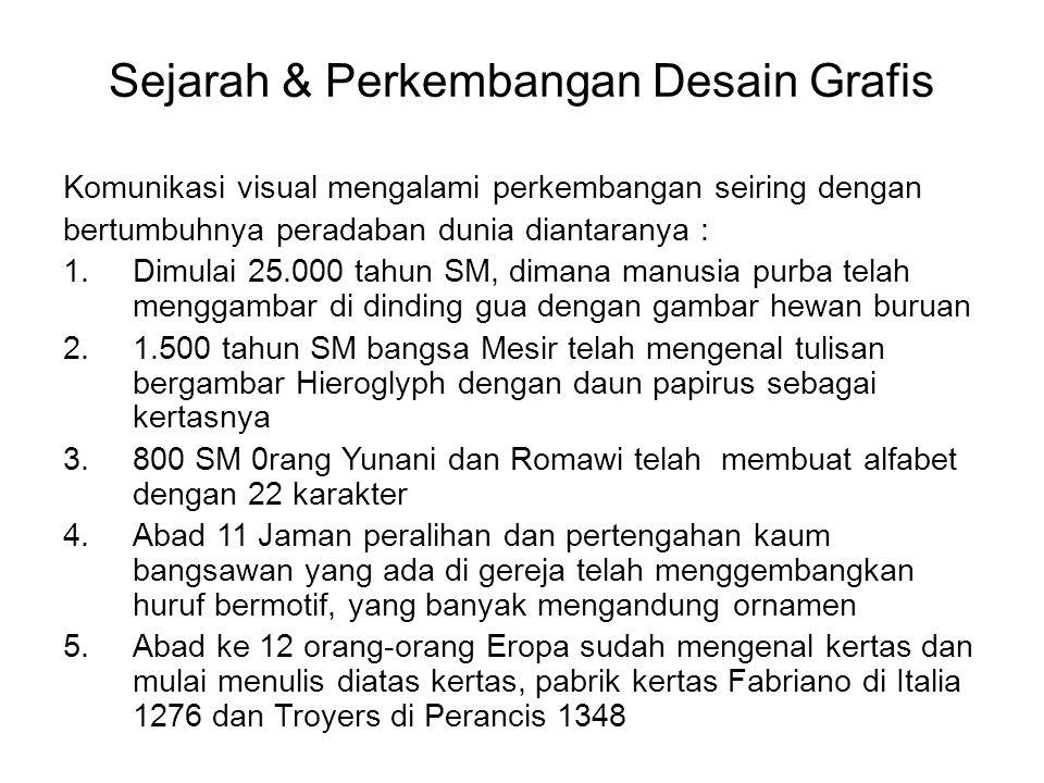 Sejarah & Perkembangan Desain Grafis