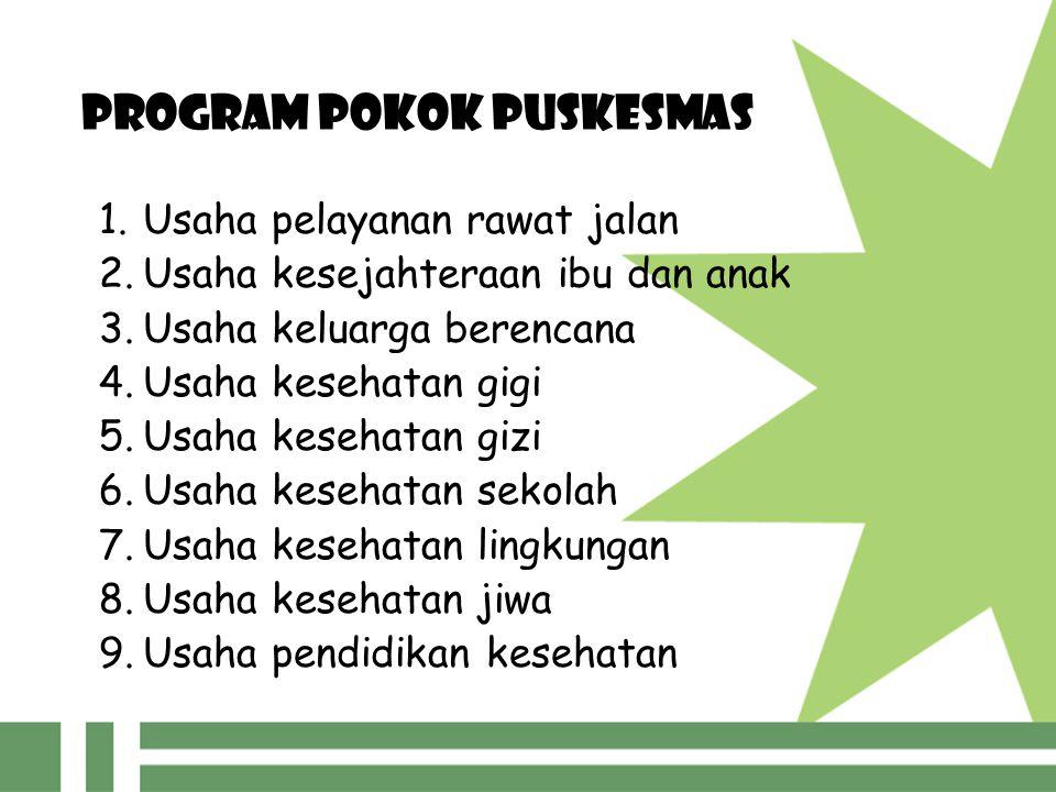 PROGRAM POKOK PUSKESMAS