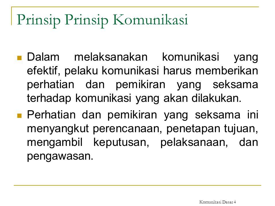 Prinsip Prinsip Komunikasi