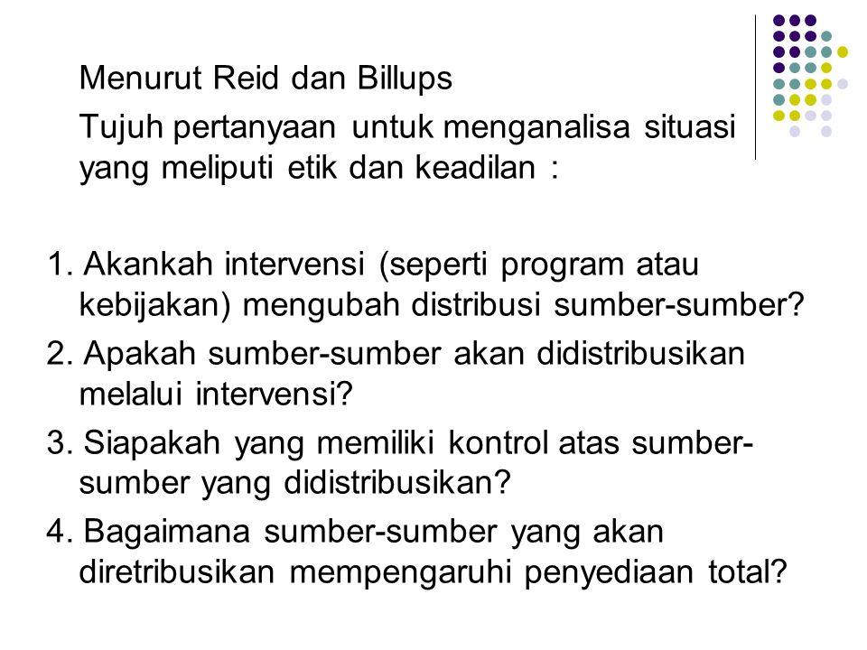 Menurut Reid dan Billups