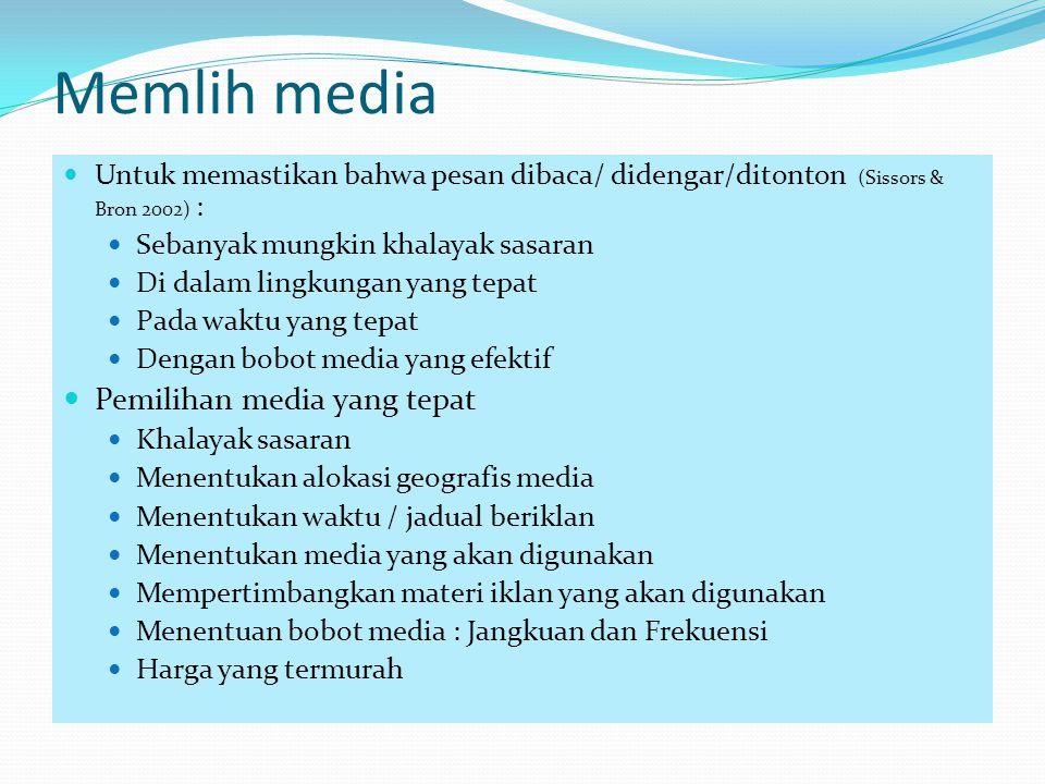 Memlih media Pemilihan media yang tepat