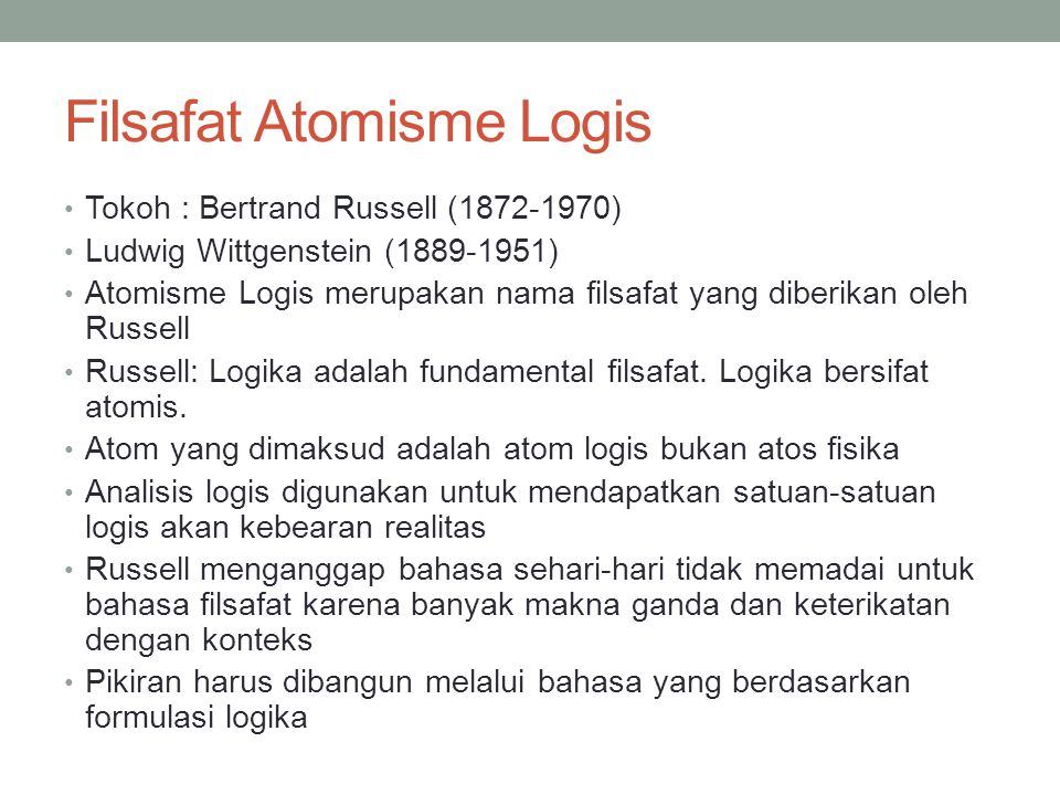 Filsafat Atomisme Logis
