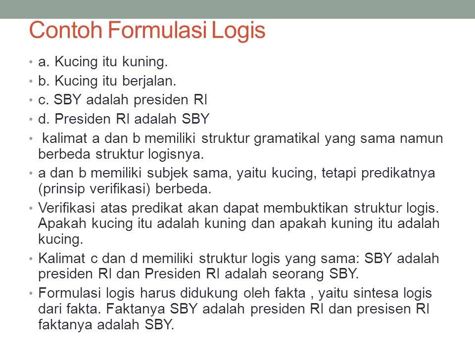 Contoh Formulasi Logis