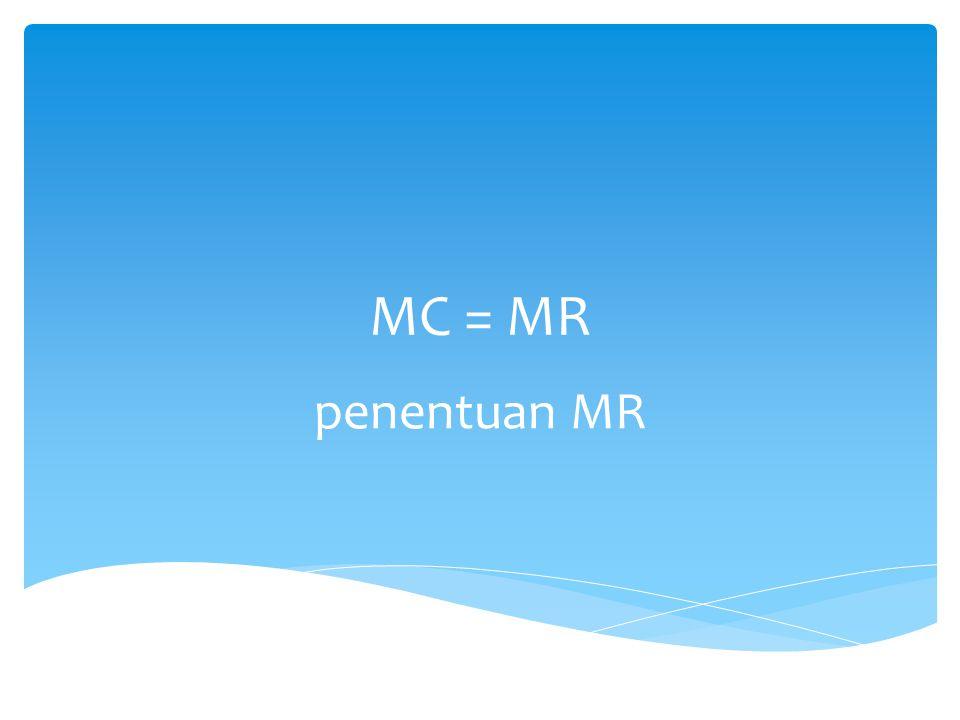 MC = MR penentuan MR