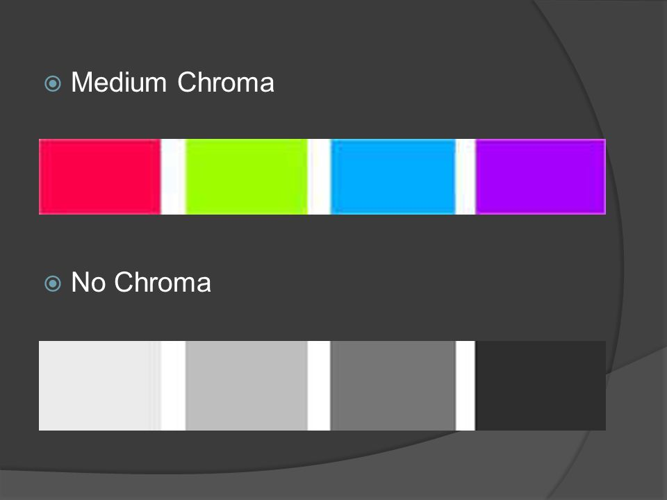 Medium Chroma No Chroma