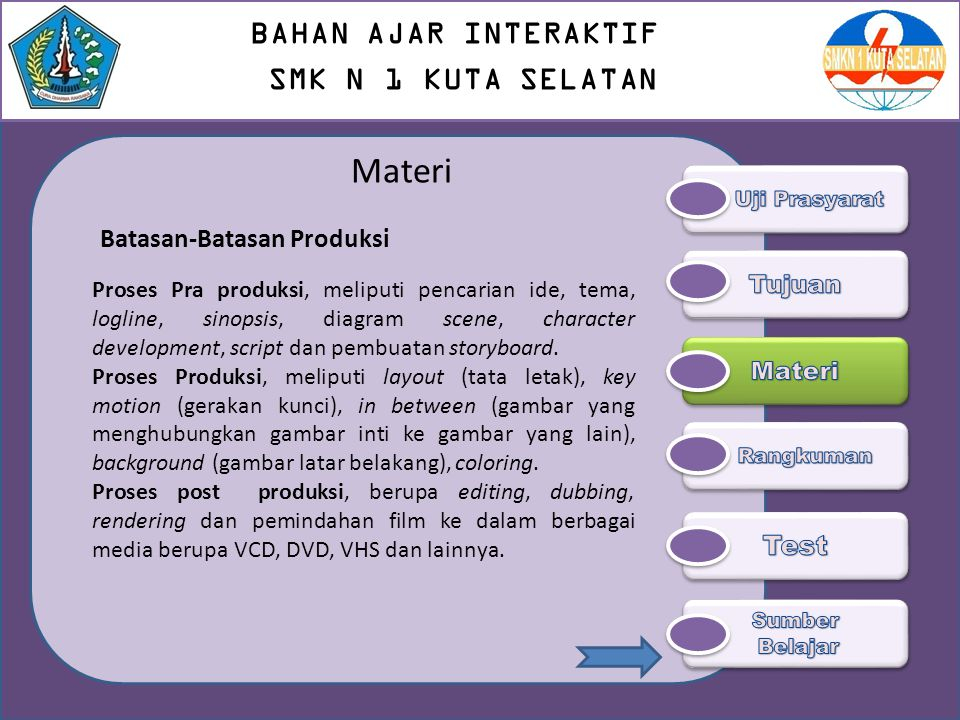 Materi BAHAN AJAR INTERAKTIF SMK N 1 KUTA SELATAN
