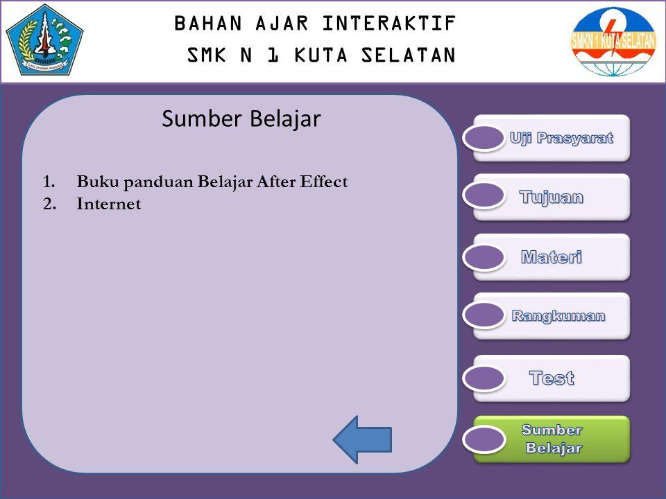 Sumber Belajar BAHAN AJAR INTERAKTIF SMK N 1 KUTA SELATAN