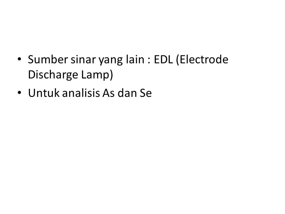Sumber sinar yang lain : EDL (Electrode Discharge Lamp)