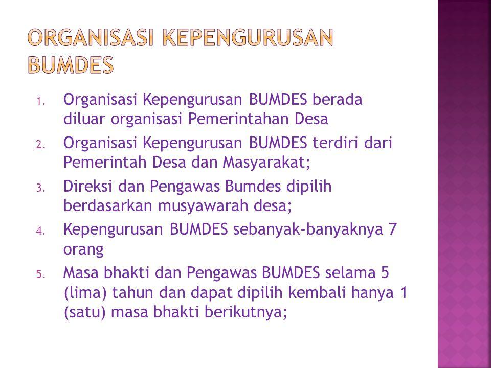 Organisasi Kepengurusan BUMDES