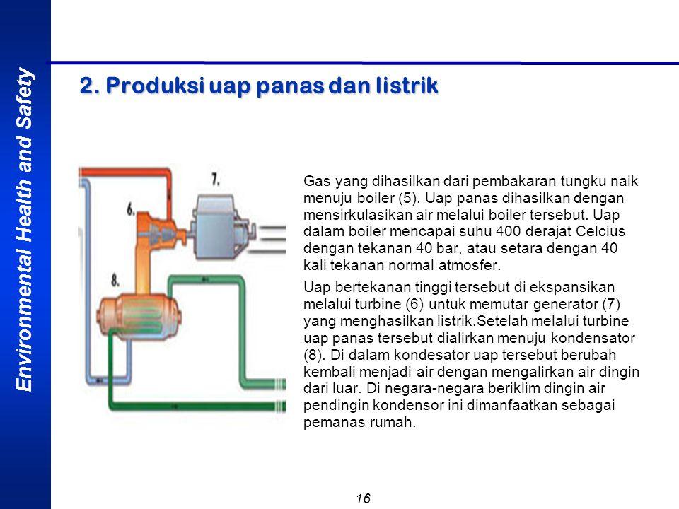 2. Produksi uap panas dan listrik