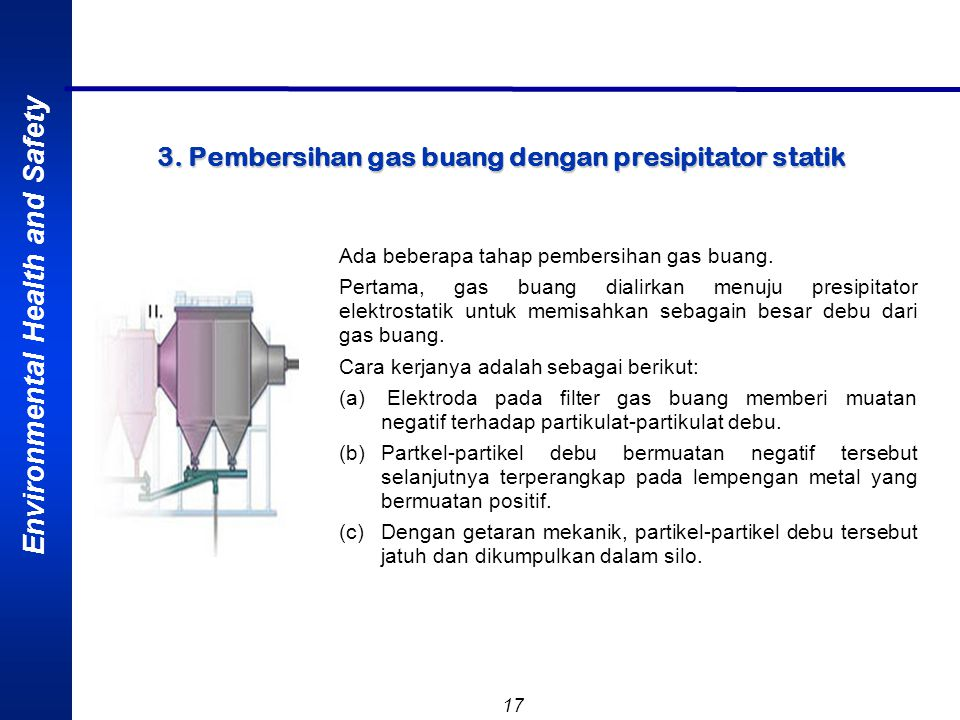 3. Pembersihan gas buang dengan presipitator statik