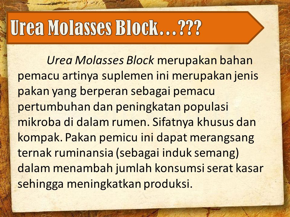 Urea Molasses Block…