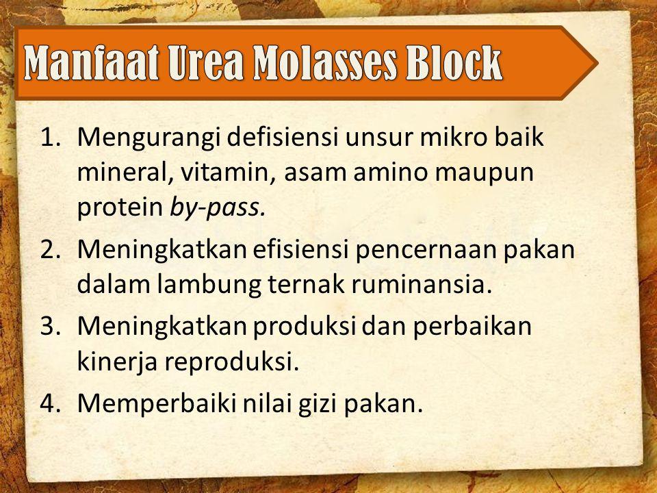 Manfaat Urea Molasses Block