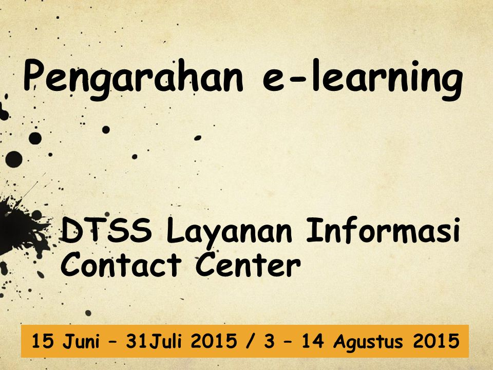 Pengarahan e-learning