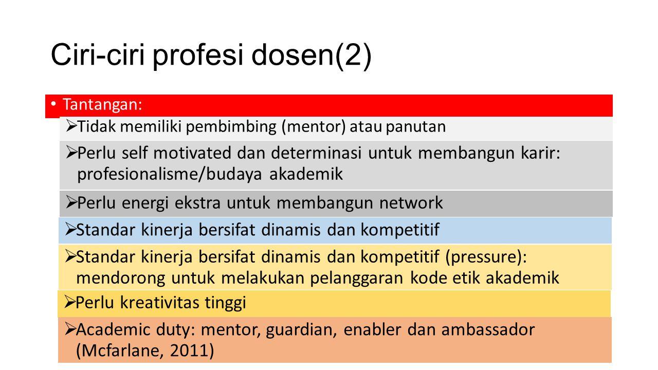Ciri-ciri profesi dosen(2)