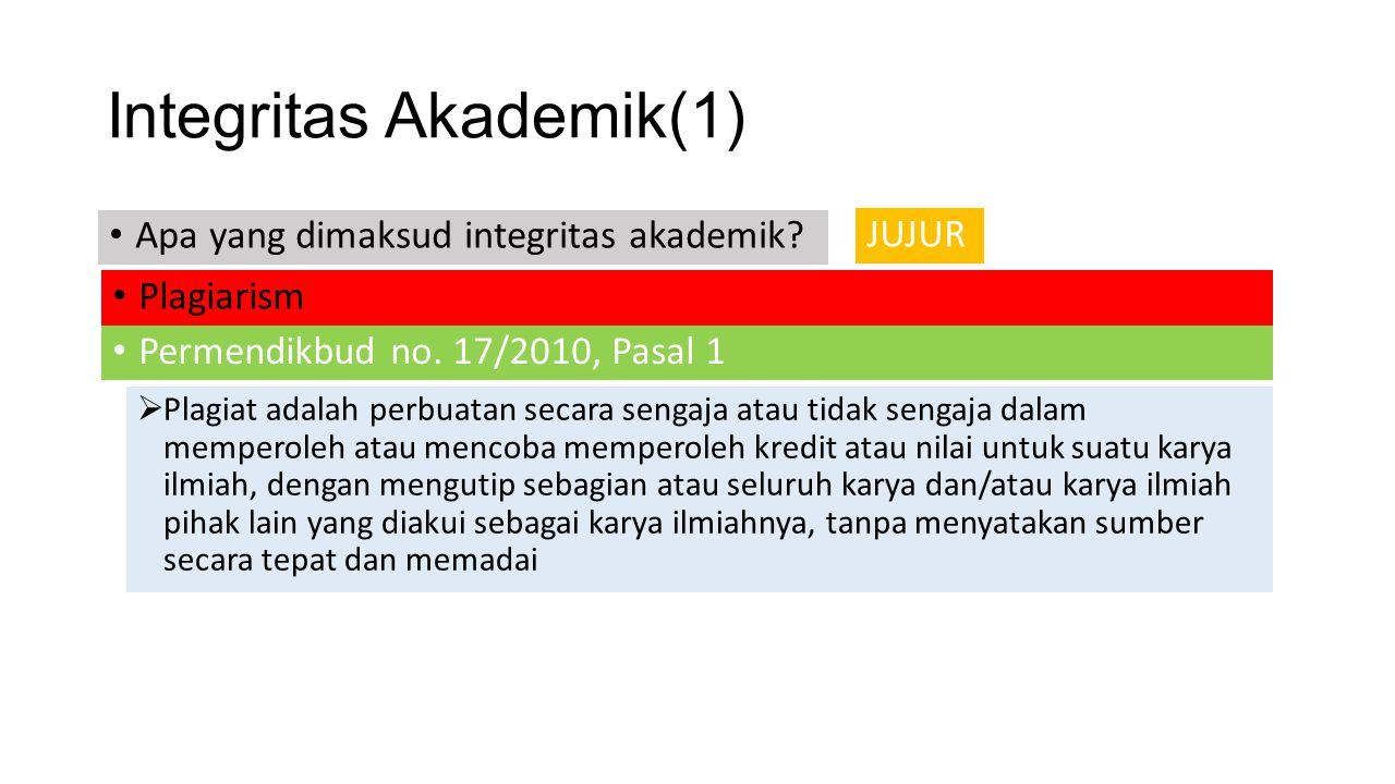 Integritas Akademik(1)