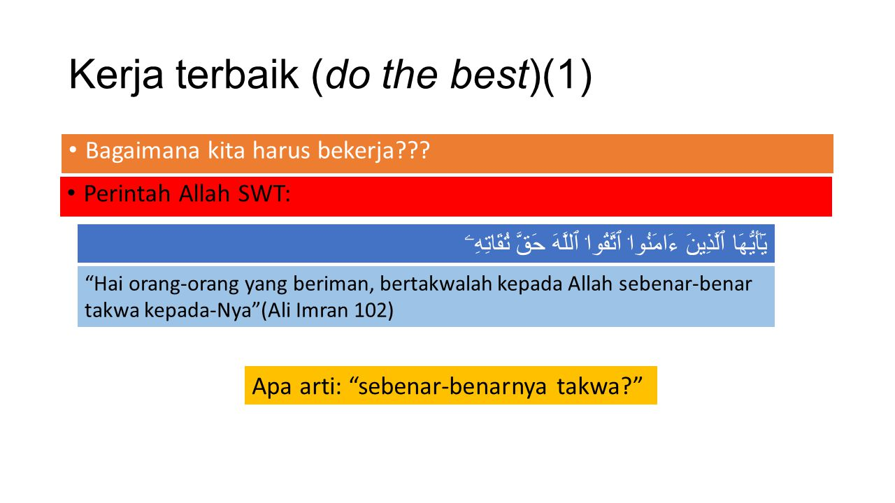 Kerja terbaik (do the best)(1)