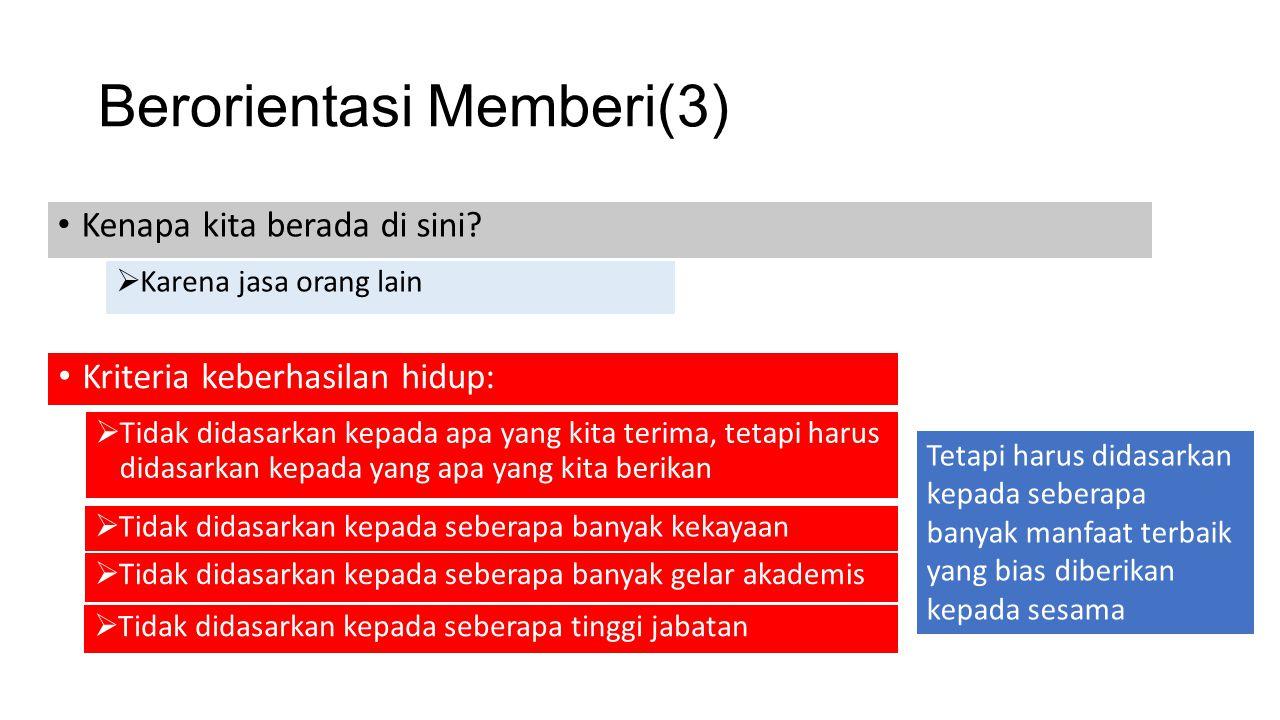Berorientasi Memberi(3)